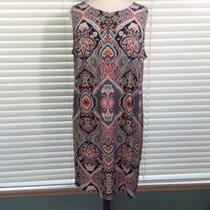 MSK Women Print Sleeveless Dress 3X
